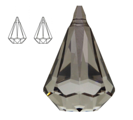 Swarovski 6022 XIRIUS Raindrop Crystal Satin 14 mm
