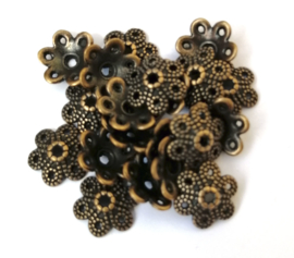 9 x 3 mm bronskleur eindkapje/tussenstuk 10 st.