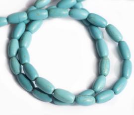 Turquoise 14,5 x 8 mm kralen