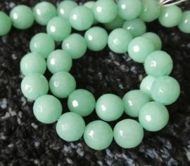 Jadeiet groen facetkralen 10 mm
