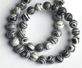 Zwart-Wit synthetische Malachiet (8 mm)