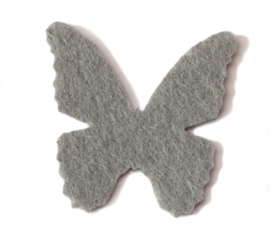 32 x 32 mm vilten vlinder grijs 1 st.