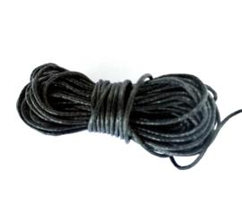 Sieradenkoord katoen zwart (5 meter)