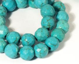 Turquoise facetkralen 8 mm