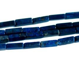 Lapis Lazuli 13 x 4 x 4 mm rechthoekige kralen