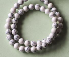 Howliet wit met zwart (6 mm)