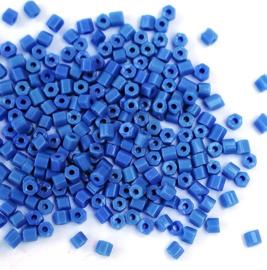 Tsjechische Preciosa glaskralen 31001/33040 buisjes blauw (20 g)