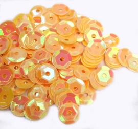 Pailletten met facetten licht oranje (10 g.)