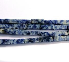 Sodaliet rechthoekige kralen 13 x 4 x 4 mm