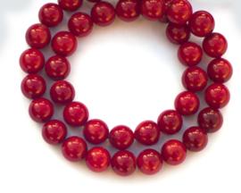 Koraal rood rond  8 mm