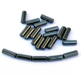 Hematiet cilinder kralen 8 x 2,5 mm