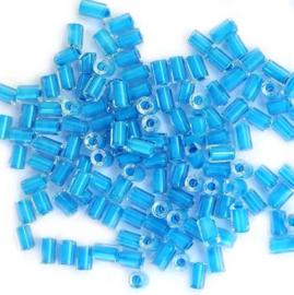 Tsjechische Preciosa  buisjes licht blauw (20 g)