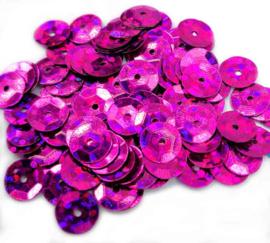 Pailletten met facetten donker roze (10 g.)