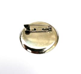 Metalen broche speld 35 mm