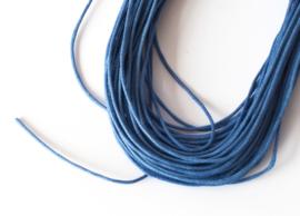 Sieradenkoord katoen blauw (10 meter)