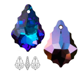 Swarovski Elements  6090 Baroque, crystal Heliotrope, 16mm,