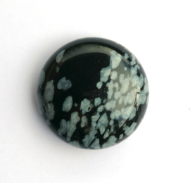Obsidiaan sneeuwvlok 16 mm cabochon