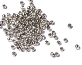 Knijpkralen metalen kleur 2 mm 400 st.