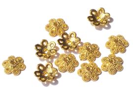10 x 2.5 mm goudkleur kralenkapje 18 st.