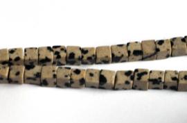 Jasper dalmatiner kubus 4 x 4 mm
