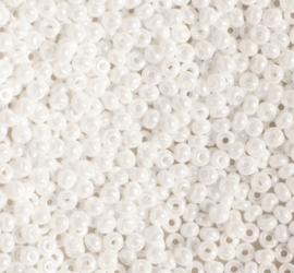 PRECIOSA ORNELA rocailles 9/0  46102 glanzend wit ca. 50 g.