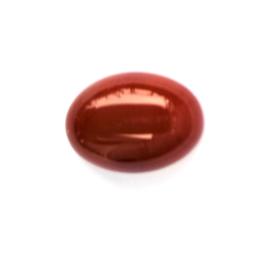 Agaat bruin ovaal cabochon ca. 18 x 12,5 mm