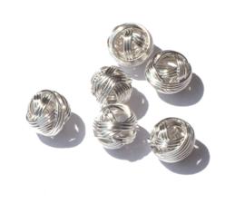 7.5 mm zilverkleur tussenstuk 3 st.