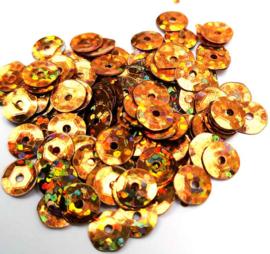 Pailletten met facetten donker oranje (10 g.)