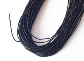 Sieradenkoord katoen zwart (10 meter)