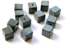 Agaat kubus kralen  6 x  6 x 6 mm
