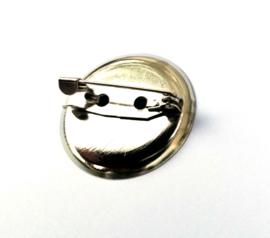 Metalen broche speld rond 23 mm