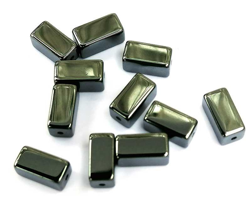 Hematiet rechthoekig 4 x 4 x 8 mm
