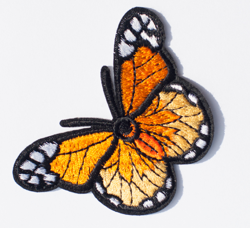 Embleem Vlinder 48 x 66 mm