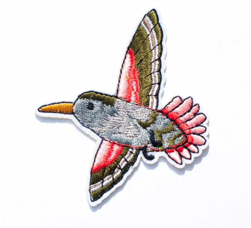 Embleem Groen Vogel 80 x 68 mm