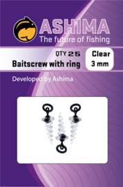 Ashima Baitscrew met 3 mm ring clear