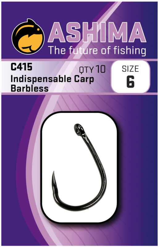 Ashima AS415 Indispensable carp barbless in de maat 2, 4, 6 en 8