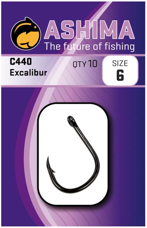 Ashima AS440 excalibur haak in de maat 2, 4, 6 en 8.