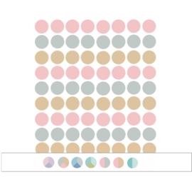 Confetti muursticker stipjes - Meerdere kleuren - 120 stuks - 2x2cm (Diverse varianten)