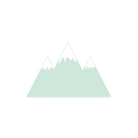 Bergen muurstickers - mint - 70x45cm