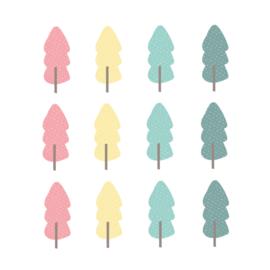 Indianen dieren - Gekleurde bomen muurstickers 12st - 5x12cm