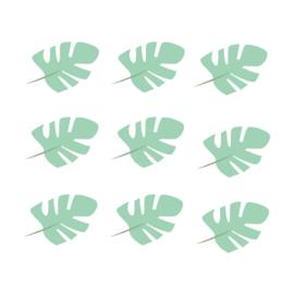 Jungly jungle - Bladeren muurstickers groen - 10x7cm