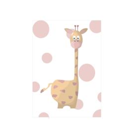 Jungly jungle - Giraf poster -  A4/A3