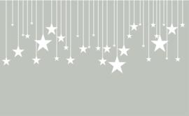 Witte sterren muurstickers met streepjes