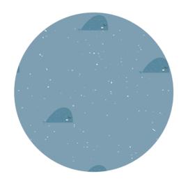 Muurcirkel Donker blauwe walvissen  - 3mm dik - 30cm