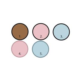 Panterprint muursticker set - 130 stuks (diverse varianten)