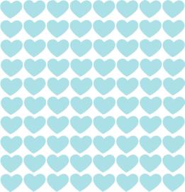 Hartjes muurstickers blauw - 80 stuks - 2x2cm