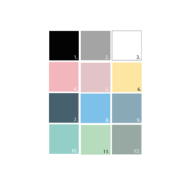 Sterren muurstickers mix - 33 stuks - Uni kleur (Diverse varianten)