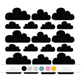 Wolken muurstickers - 21 stuks (Diverse varianten)