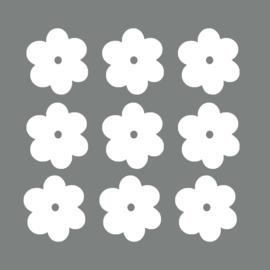 Witte bloemen - 10 stuks -  6x6cm