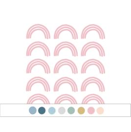 My little rainbow - Regenboog muurstickers 15st - 6x10cm (Diverse varianten)